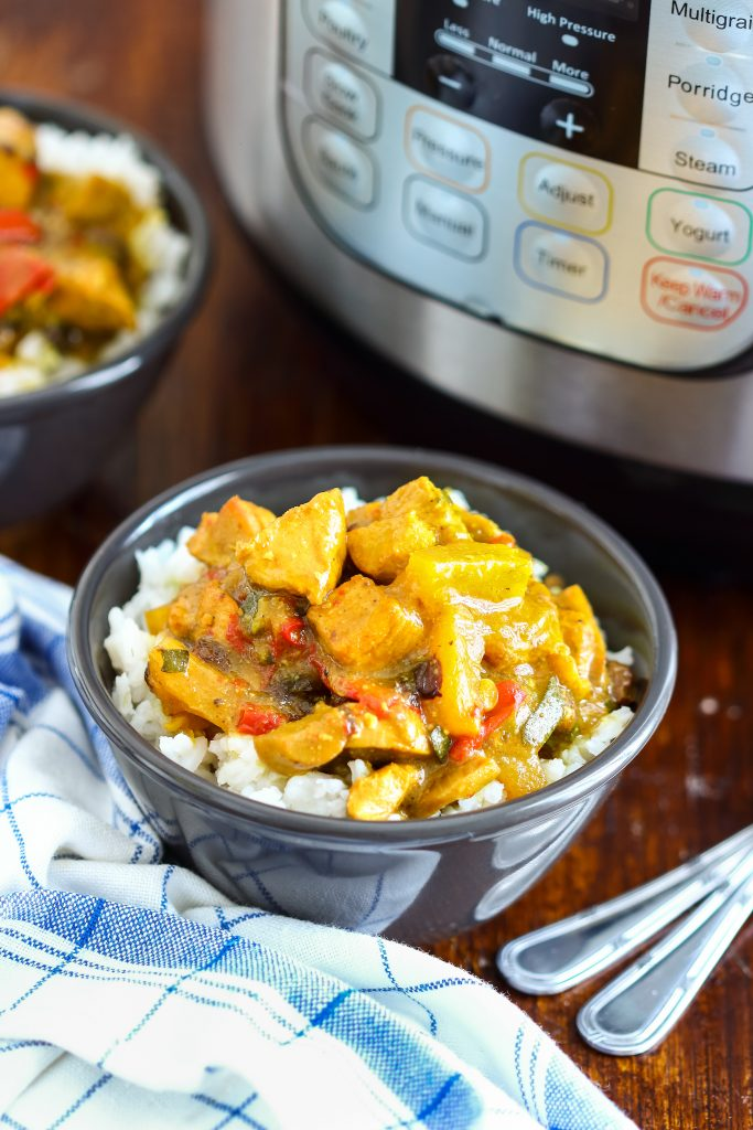 chicken curry instapot recipe cooked