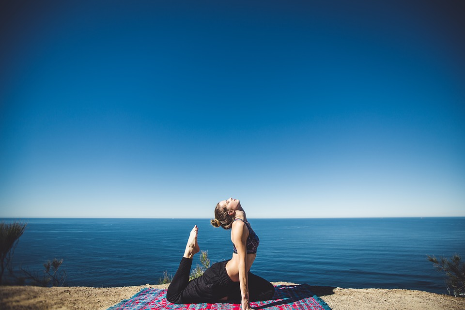 yoga on the coast
