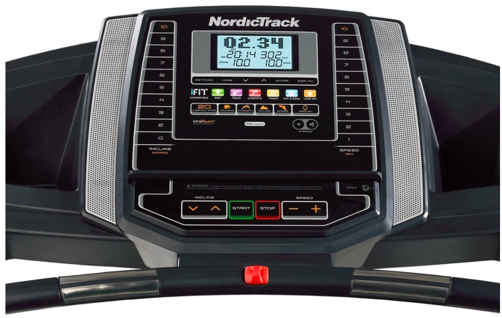 NordicTrack T 6.5 S front LCD Display with other adjustable features
