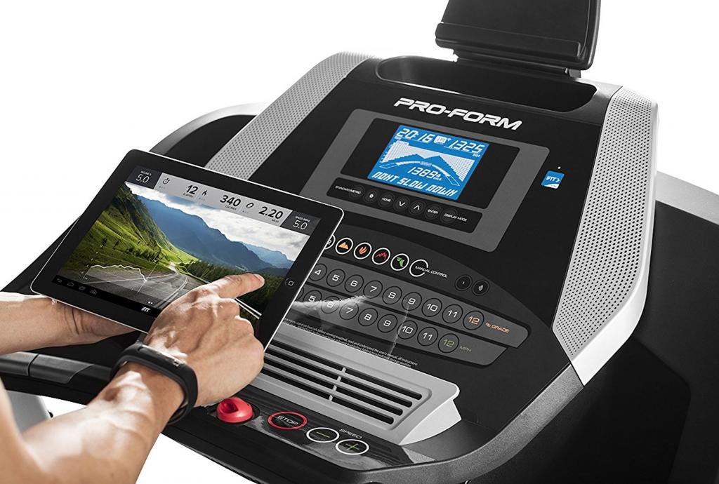 ProForm 705 CST Treadmill console, tablet and controls