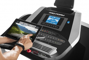 ProForm 705 CST Treadmill console, tablet and controls