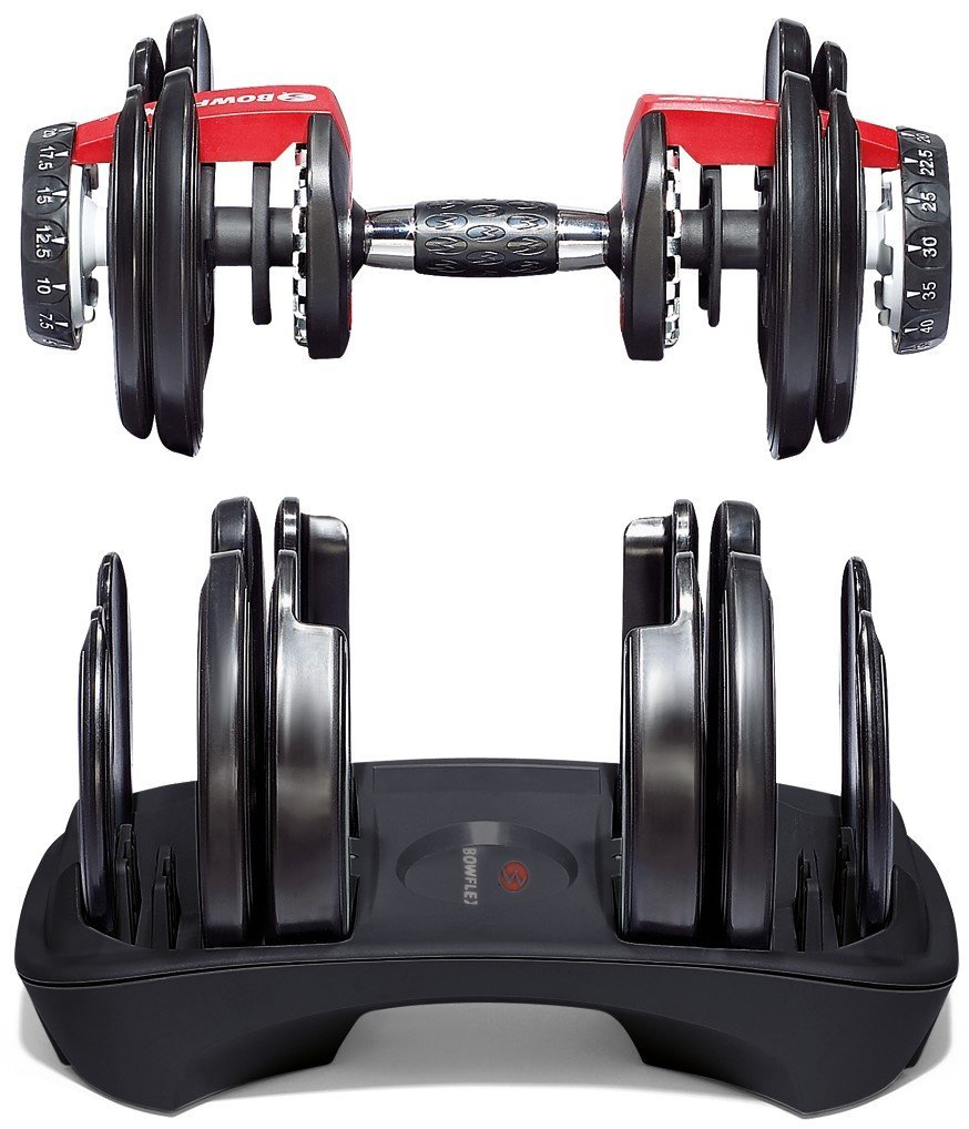 bowflex 552 dumbbell structure with stand