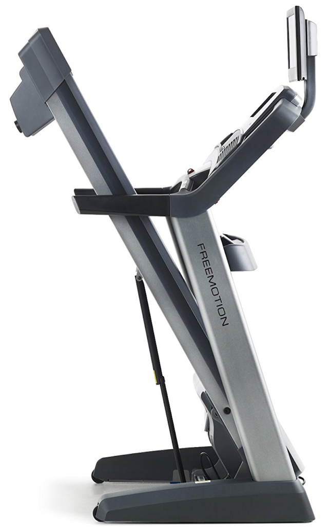 freemotion 890 treadmill in folded posture