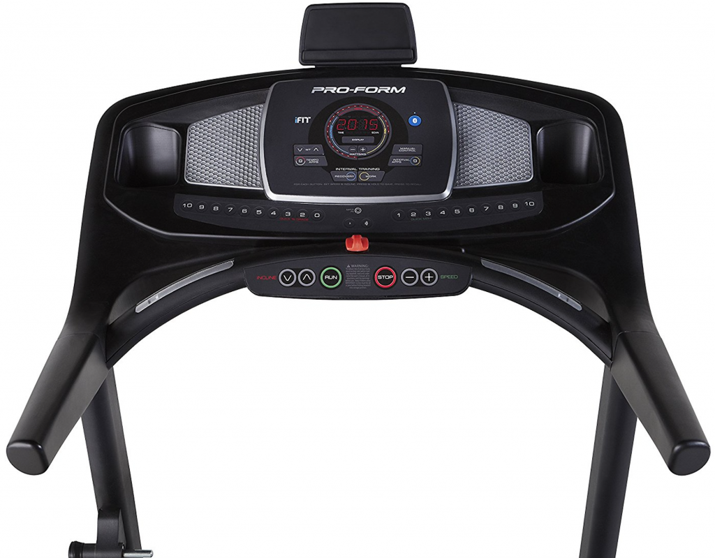 proform 400i treadmill console with buttons