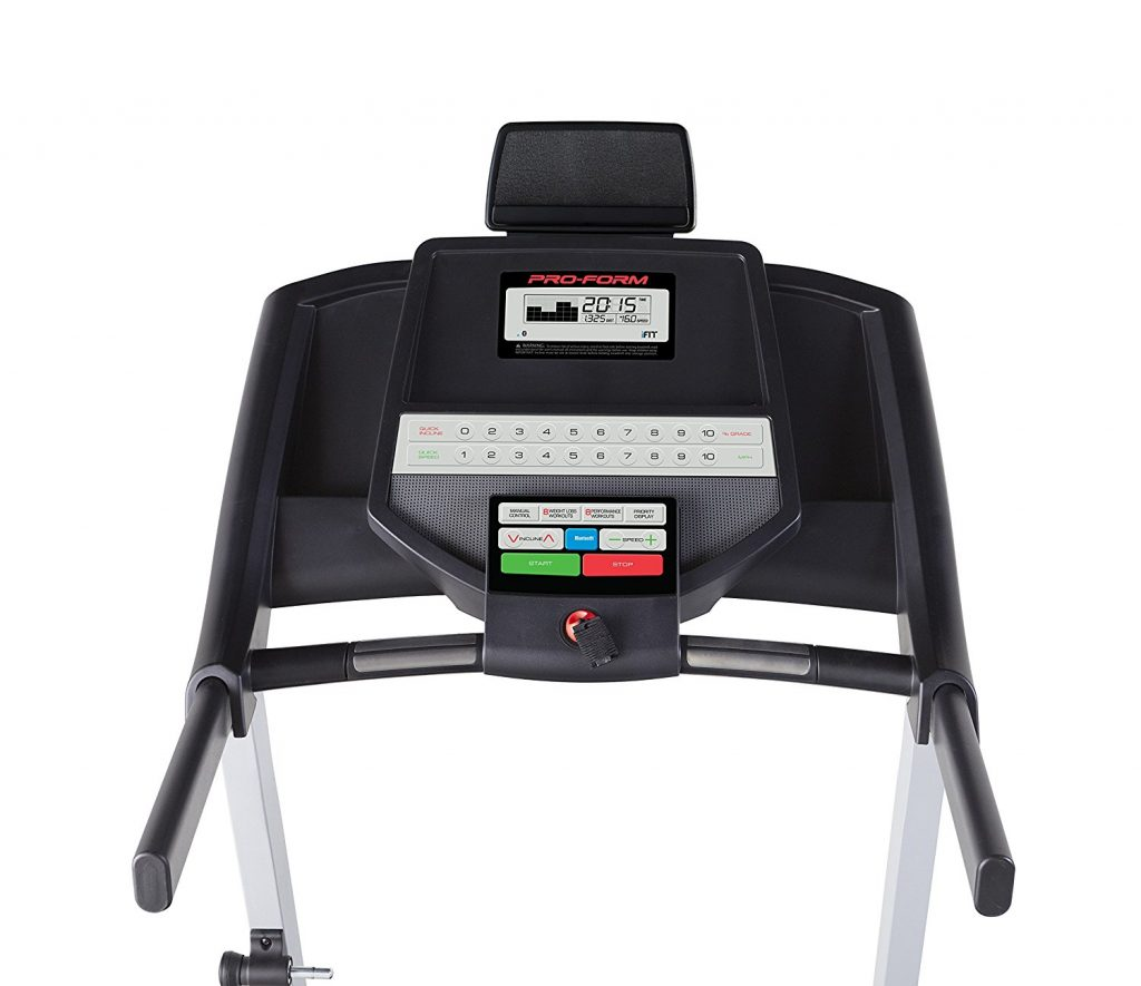 user interface front of ProForm Performance 300i Treadmill
