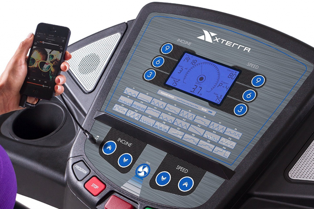 XTERRA Fitness TR300 Treadmill user interface