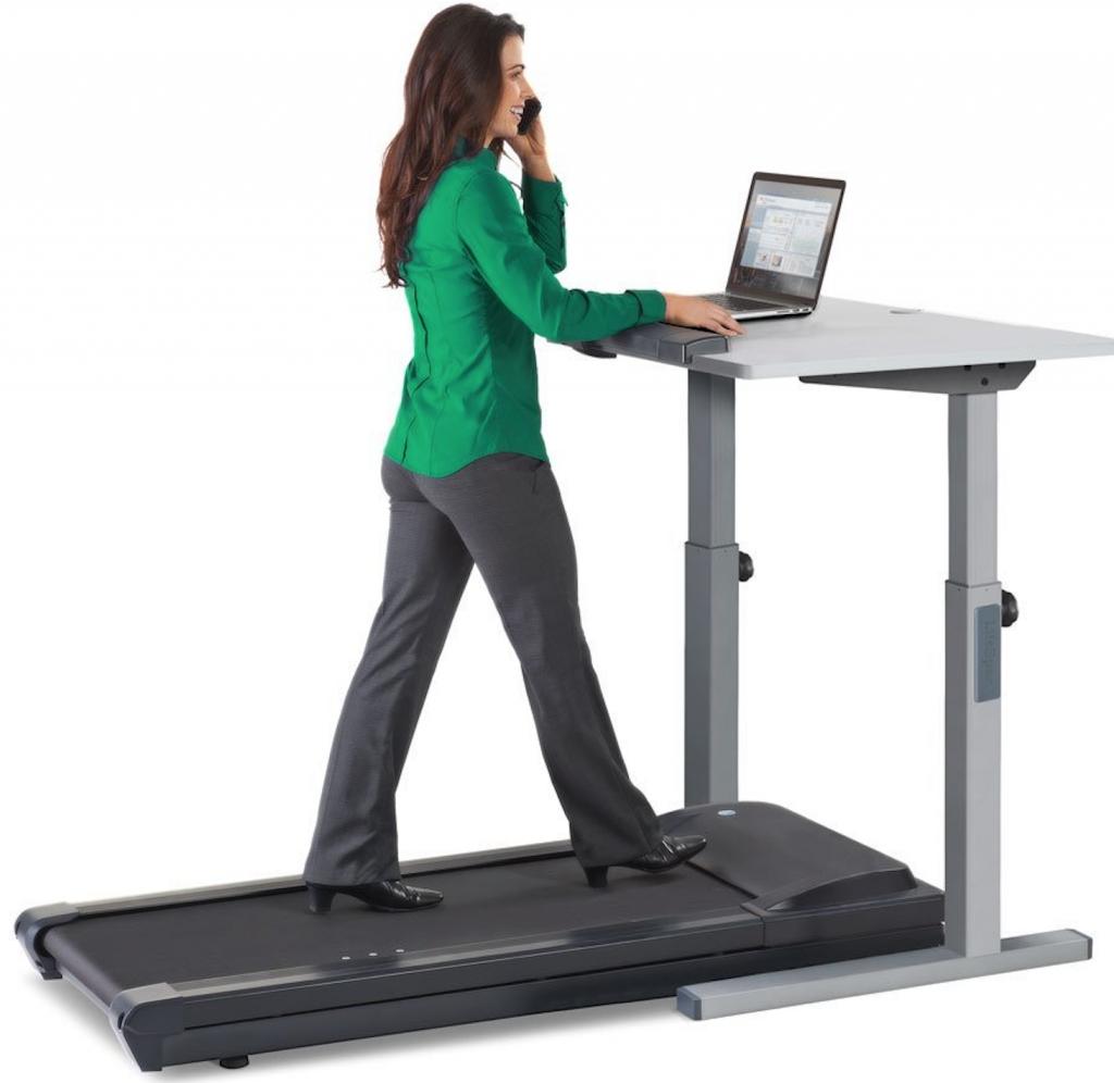 woman walking on LifeSpan TR1200-DT5 Treadmill Desk