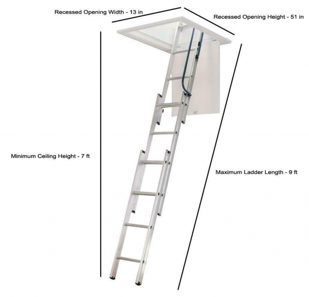 compact attic ladder