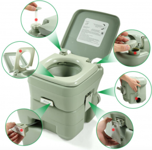 how portable camping toilets work